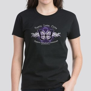 Alzheimer's Tribal Butterfly Women's Dark T-Shirt